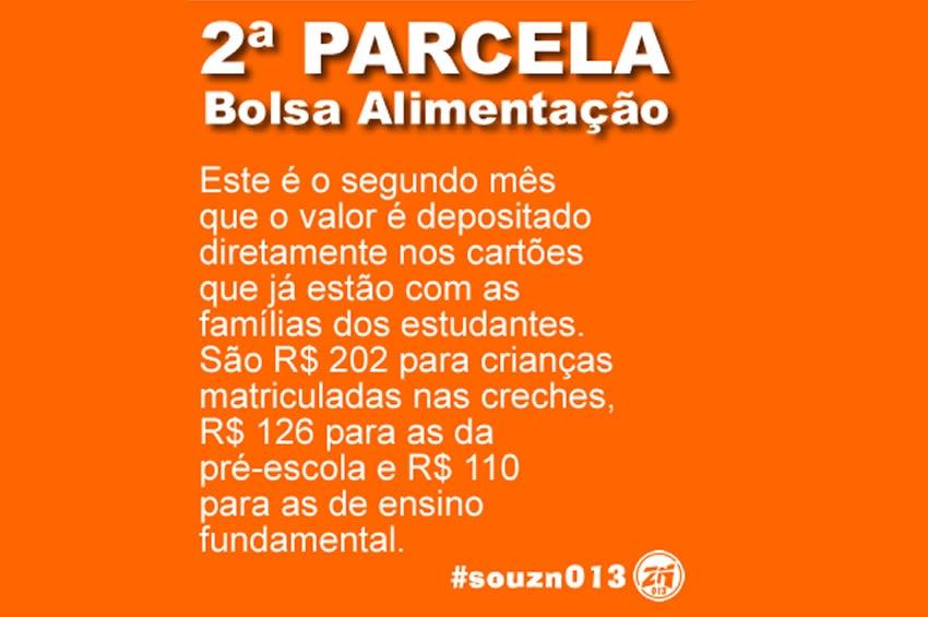 Depositada 2ª parcela do bolsa-alimentação para 8 mil alunos de Santos