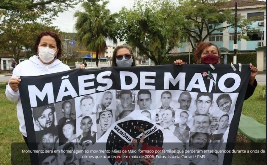 Prefeitura de Santos irá construir um monumento em homenagem as mães de maio.