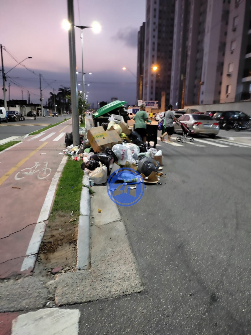 Lixo jogado na rua na Haroldo de Camargo
