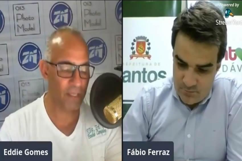 Eddie Gomes com Secretário de Saúde Fábio Ferraz COVID 19 na ZN