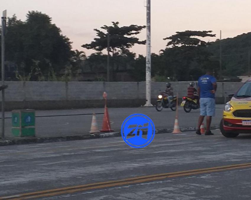 Aulas de moto na calçada