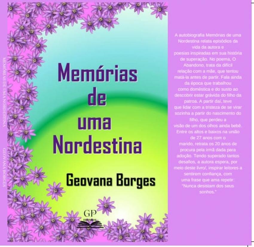 Moradora da ZN, Geovana Borges lança seu livro.